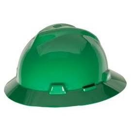 Casco ranurado V-Gard de ala completa Verde